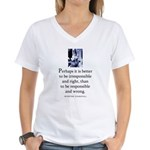 Responsible Women's V-Neck T-Shirt
