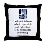 Responsible Throw Pillow