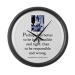 Responsible Large Wall Clock