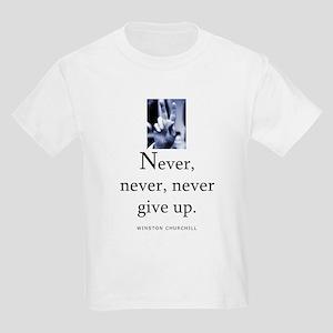 Never give up Kids Light T-Shirt