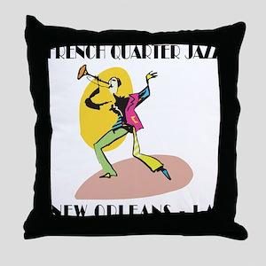 French Quarter Jazz Throw Pillow