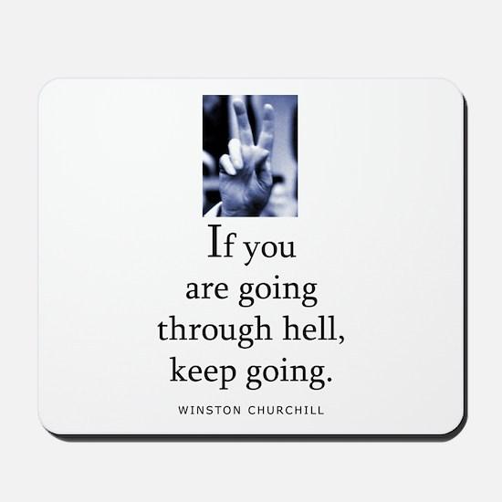 Through hell Mousepad
