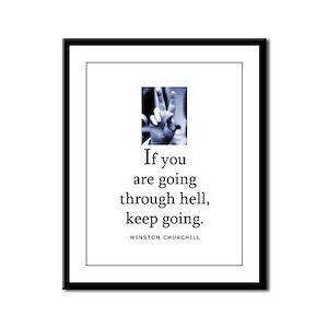 Through hell Framed Panel Print