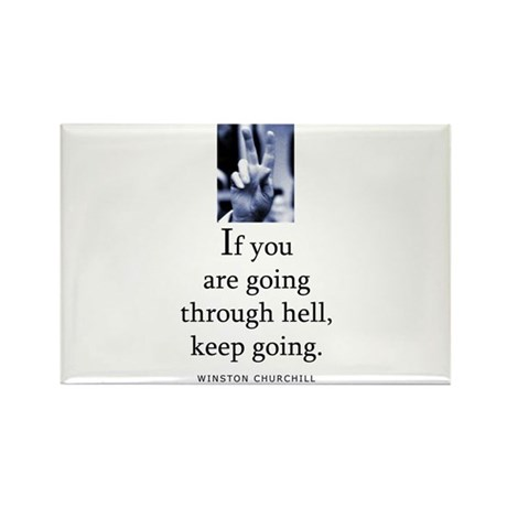Through hell Rectangle Magnet