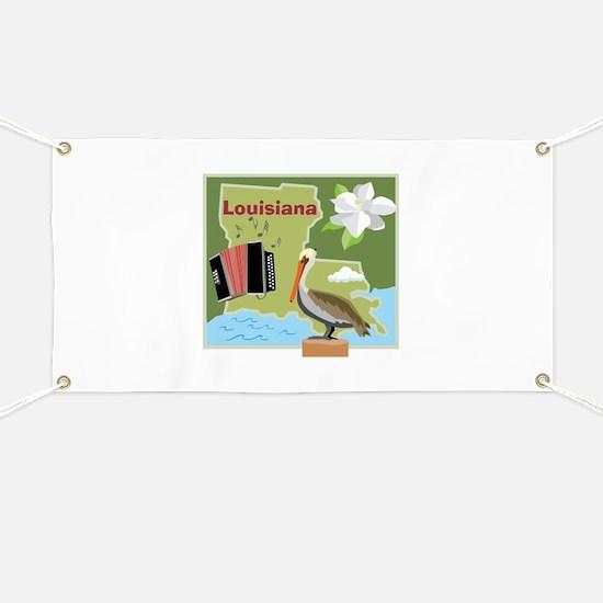 Louisiana Map Banner