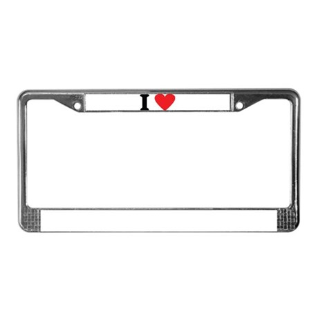 I love License Plate Frame
