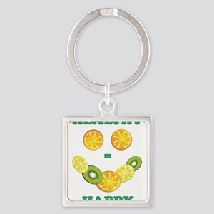 healthy equals happy Keychains