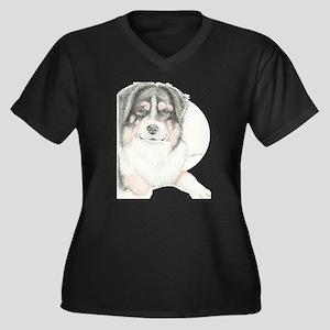 Dually Women's Plus Size V-Neck Dark T-Shirt
