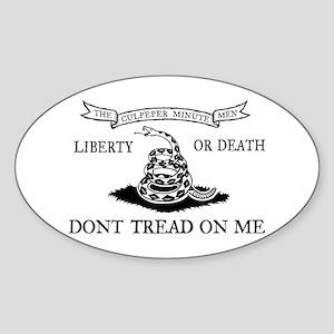 Culpeper Flag Oval Sticker