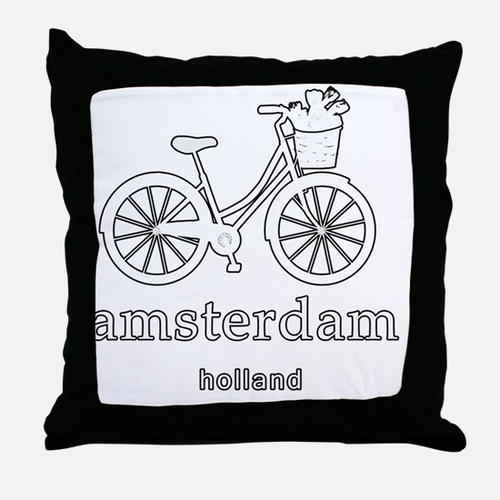 Unique Holland amsterdam Throw Pillow
