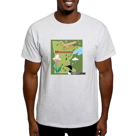 Minnesota Map Light T-Shirt
