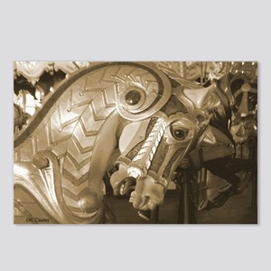 Sepia Armored C Horse Postcards (Package of 8)
