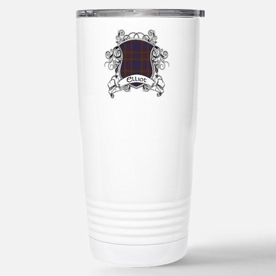 Elliot Tartan Shield Stainless Steel Travel Mug
