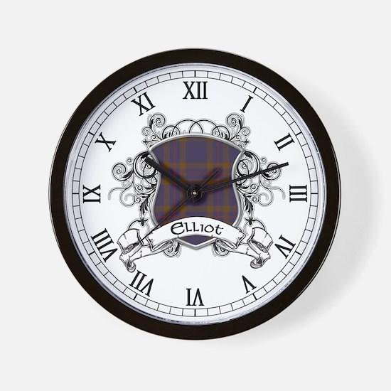 Elliot Tartan Shield Wall Clock