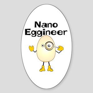 Nano Eggineer Oval Sticker