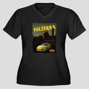 Volterra Women's Plus Size V-Neck Dark T-Shirt