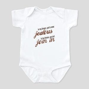 """Never Jealous"" Infant Bodysuit"