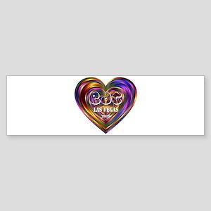 Electric Daisy Carnival Heart Bumper Sticker