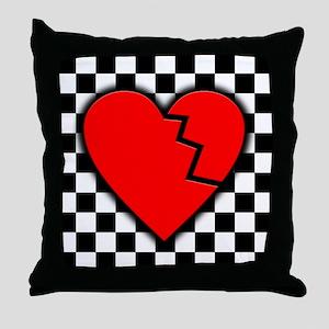 Emo Broken Heart Throw Pillow