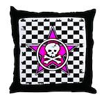 Skull Star Art Throw Pillow