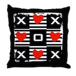 Hearts & Crosses Art Throw Pillow