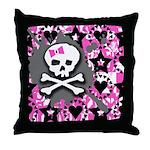 Pink Bow Throw Pillow