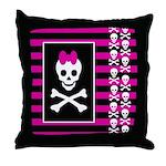 Skull Princess Art Throw Pillow