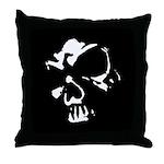 Dark Skull Gothic Art Throw Pillow