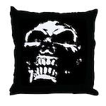 Gothic Skull Art Throw Pillow