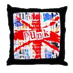 Punk Union Jack Art Throw Pillow