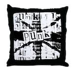 B&W Punk Art Throw Pillow