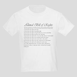 Animal Bill of Rights Kids T-Shirt