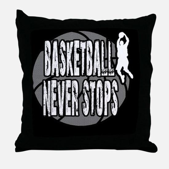 Funny Basket ball Throw Pillow