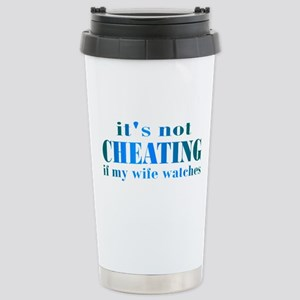 Wife Watches Stainless Steel Travel Mug