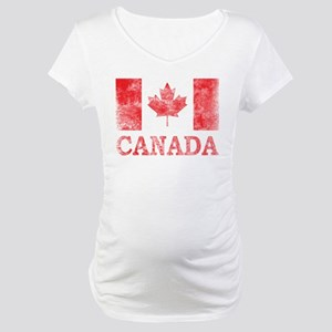 Vintage Canada Maternity T-Shirt