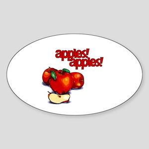 """Apples! Apples!"" Oval Sticker"