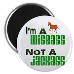 """""""Wiseass, Not Jackass"""" 2.25"""" Magnet (100 pack)"""