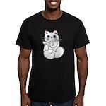 Longhair ASL Kitty Men's Fitted T-Shirt (dark)