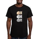 3 ASL Kitties Men's Fitted T-Shirt (dark)