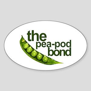 """Pea-Pod Bond"" Oval Sticker"