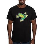 ASL Frog in Flight Men's Fitted T-Shirt (dark)