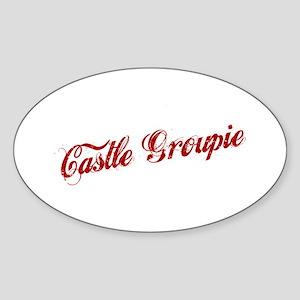 """Castle Groupie"" Oval Sticker"