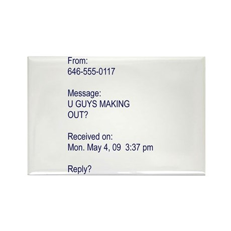 """U Guys Making Out?"" Rectangle Magnet (100 pack)"