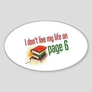"""Page Six"" Oval Sticker"