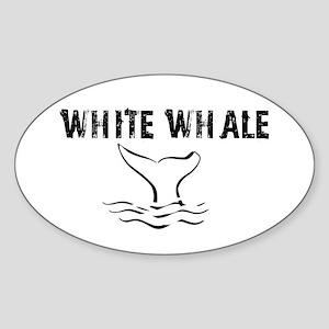 """White Whale"" Oval Sticker"