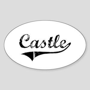 """Castle Team"" Oval Sticker"
