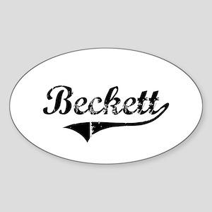 """""""Beckett Team"""" Oval Sticker"""