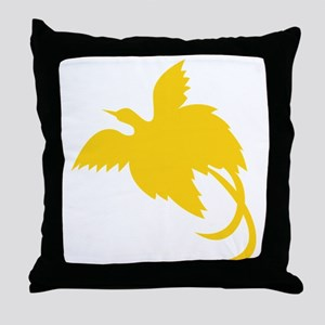New Guinea Bird Throw Pillow