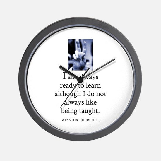 Being taught Wall Clock