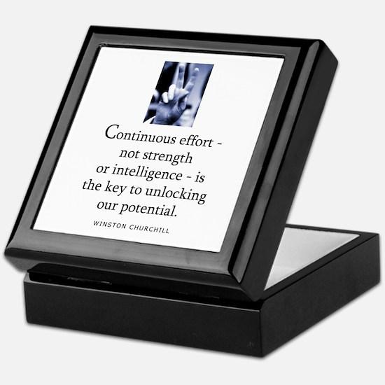 Continuous effort Keepsake Box